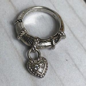 Judith Ripka Sterling Silver CZ Ring 6
